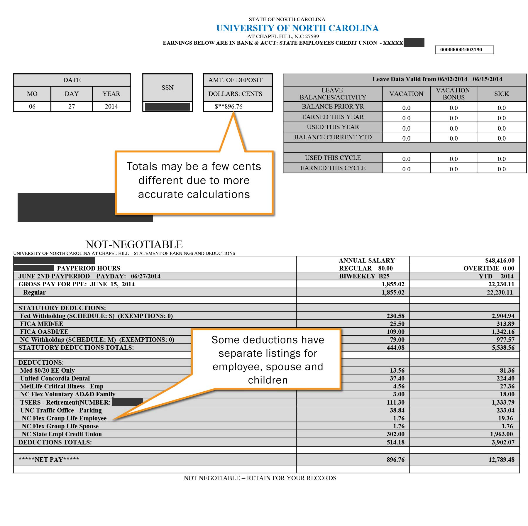 direct deposit check stub template