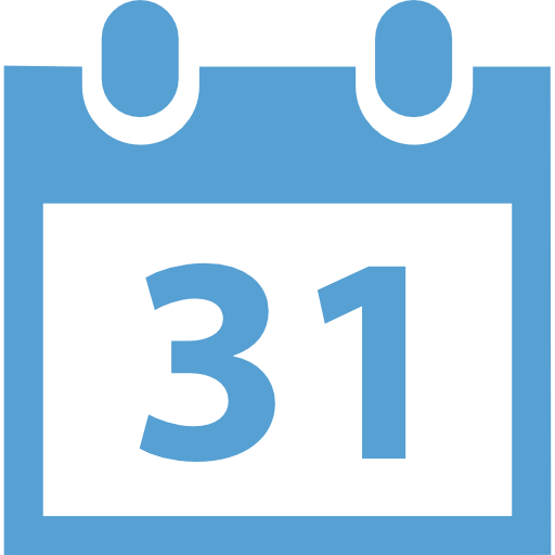 Calendar page with 31