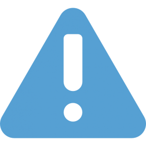 This is a Carolina Blue Icon of an attention sign, aka a triangle with a exclamation mark in the middle of it.