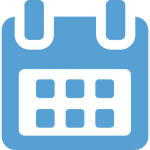 This is a Carolina Blue icon of a calendar.