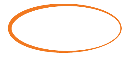 An orange oval with the words Stay Connected inside in white.