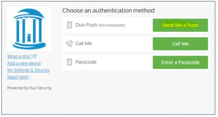 screenshot of 2-Step screen
