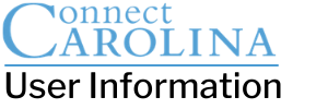 ConnectCarolina User Information